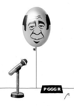 """""""Gas hilarante"""" cartón de Perujo #PGR #humor #política #México #Pemex"""