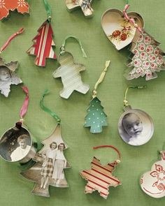 holiday, gift, craft, photo ornaments, handmade ornaments, cookie cutters, christmas trees, diy christmas ornaments, diy christmas decorations