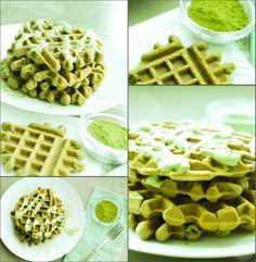 Paleo Matcha Tea Waffles | Eat Chic Chicago