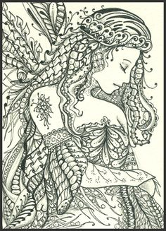 Princess Zentangle