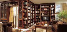 beautiful room full of books