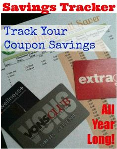 Track your Coupon Savings with this Year long Spreadsheet!