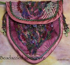 Beadazzled Somemore Purse with Christen Brown