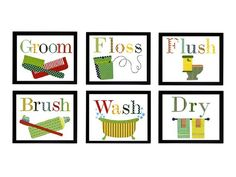 This bathroom wall art says it all #hgtvmagazine http://www.hgtv.com/decorating-basics/multiple-room-makeovers-on-a-budget/pictures/index.html?soc=pinterest