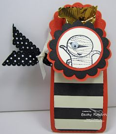 A cute little treat using the Two Tags die from Stampin' Up! by Becky Roberts