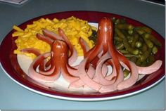Hotdog Octopus dinner