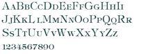Downloadable Tiffany font.
