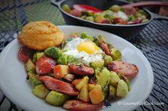 Gourmet Girl Cooks: Sausage & Sprouts - Quick, Easy & Low Carb