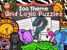 Challenge your students to improve their higher-order thinking skills while learning some fun and interesting animal facts with these zoo theme grid logic puzzles! #TpT #TeacherGems #CriticalThinking