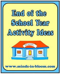 Fun End of the School Year Ideas  -  Pinned by @PediaStaff – Please Visit http://ht.ly/63sNt for all our pediatric therapy pins