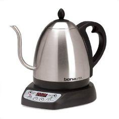 Bonavita 1-Liter Variable Temperature Digital Electric Gooseneck Kettle: Amazon.com: Kitchen & Dining