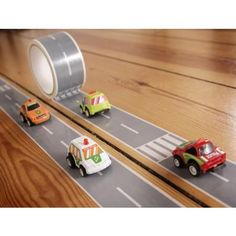 Tape to make a car track anywhere?! YES PLEASE!