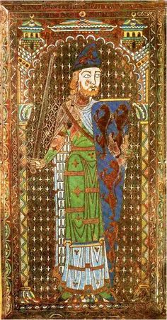Geoffrey le Bel, Count of Anjou.  Father of the Plantagenet line.