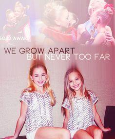 We grow apart but never too far