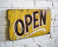 Antique OPEN Sign
