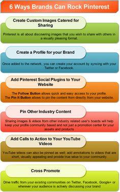 6 Ways Brands Can Rock #Pinterest - by Bootcamp Media ( #Pinterest #Marketing #SocialMedia #Infographic )