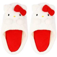 Hello Kitty slippers! How cute! Get them at Rakuten Global Market