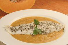 Filete de lenguado con puré de calabazapara #Mycookhttp://www.mycook.es/receta/filete-de-lenguado-con-pure-de-calabaza/