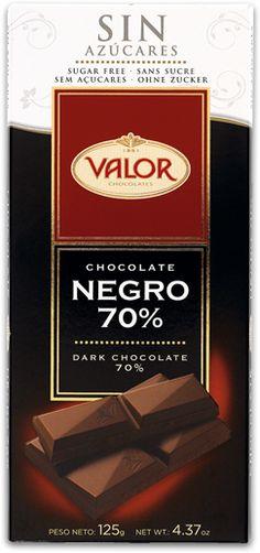 Para los que cuidan la línea pero no renuncian al placer. Chocolate Negro con 70% de Cacao SIN AZÚCAR. Tremendo.