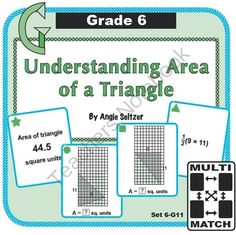 Multi-Match Game Cards 6G: Understanding Area of a Triangle from K-8 MathPaths on TeachersNotebook.com -  (10 pages)  - This FREE set of printable Multi-Match game cards helps students understand how the areas of triangles and rectangles are related. This set aligns with CCSS 6.G.1.