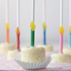 Birthday Cake Candy Marshmallow Pops