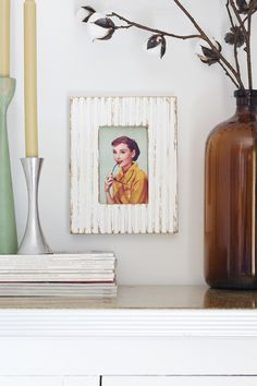 Use plaster of Paris to #DIY a textured picture frame! Pro tip, since 'P of P' can be a little messy, make a big batch and have extra frames for on-hand holiday gifts!