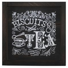 Biscuits & Tea Framed Wall Decor