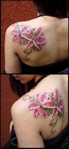 tattoo of stargazer lilies