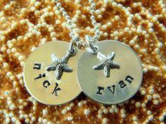 mommy necklace, starfish jewelry