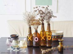 Meeha Meeha: Brown Bottle Fall Centerpiece