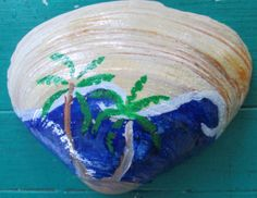 Painted sea shell wall decor bathroom decor by OceanChildTreasures, $9.00