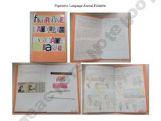 Figurative language Foldable Journal