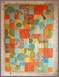 simple patchwork and beautiful colors