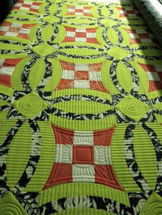 Sew Kind Of Wonderful. Quilting idea for the background of double wedding ring quilts