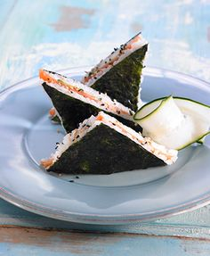 I wish I had thought of this myself, it's brilliant! The sushi-reminiscent oriental sandwich
