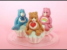 ▶ Care Bears Cake Toppers (How-to) - YouTube