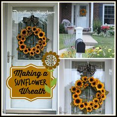 Priscillas: DIY Sunflower Wreath