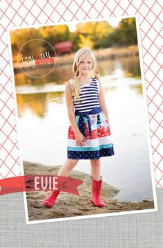 Evie Sundress PDF sewing pattern available at Fairytale Frocks & Lollipops.