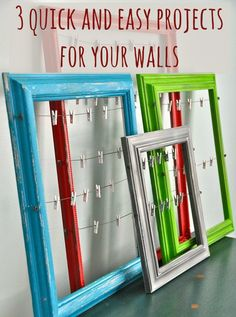 3 Quick and Easy Weekend Projects for Your Walls | Love Chic Living