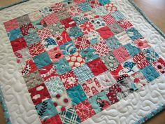 Elizabeth's Fabric Focus ~ Quick-Piece Tiny Squares   Sew Mama Sew  