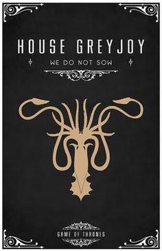 House Greyjoy -   Alternative and minimalist poster - Game of Thrones - By Thomas Gateley, http://www.flickr.com/photos/liquidsouldesign/  Visit: http://spotseriestv.blogspot.com