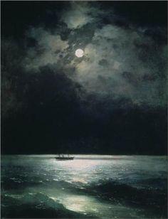 The Black Sea at Night, Ivan Aivazovsky, 1879