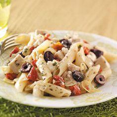 greek chicken pasta, it's very good.