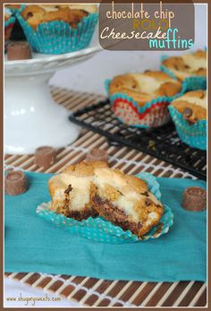 Chocolate Chip Cheesecake Rolo Muffins