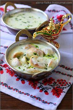 Kubbeh Shishbarak Bilaban (Arabic Ravioli and Kubbeh in Yogurt Sauce) from Dima's Kitchen