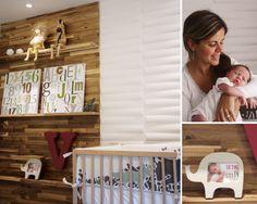 rustic baby nursery