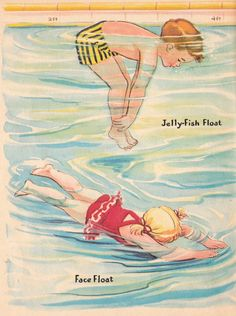 LITTLE SWIMMERS Vintage Rand McNally Elf Book Illustrated by Dorothy Grider