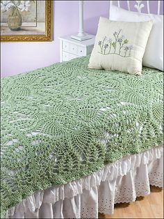 Manta de crochê deixa o quarto com um ar romântico!