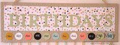 "Pinkies Stampin' Up! Sale-a-bration Blog Hop......... ""Birthdays"" wall hanger, typeset alphabet bigs, 3/4"" circle punch, SAB - decorative dots tied, sweet sorbet DSP"