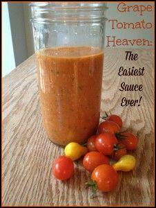 Simple Grape Tomato Sauce
